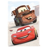 Samolepky na stenu Disney Cars Mc Queen a Burák priatelia rozmer 50 cm x 70 cm