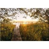 Vliesové fototapety pri jazere rozmer 368 cm x 248 cm