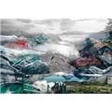 Vliesové fototapety horský výhľad rozmer 368 cm x 248 cm