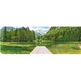 Papierové fototapety Green Lake rozmer 368 cm x 127 cm