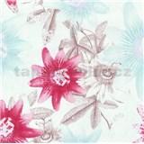 Vliesové tapety na stenu G. M. Kretschmer II kvety ružové, modré, hnedé