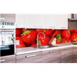 Samolepiace tapety za kuchynskú linku jahody rozmer 260 cm x 60 cm