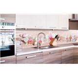 Samolepiace tapety za kuchynskú linku ZEN kvetiny rozmer 260 cm x 60 cm