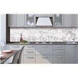 Samolepiace tapety za kuchynskú linku biely mramor rozmer 260 cm x 60 cm