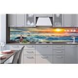 Samolepiace tapety za kuchynskú linku západ slnka na pobrežiu rozmer 260 cm x 60 cm