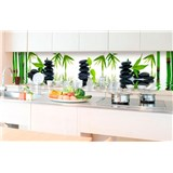 Samolepiace tapety za kuchynskú linku ZEN kamene rozmer 350 cm x 60 cm