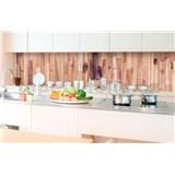 Samolepiace tapety za kuchynskú linku drevené dosky rozmer 350 cm x 60 cm