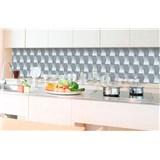 Samolepiace tapety za kuchynskú linku 3D kocky rozmer 350 cm x 60 cm