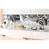 Samolepiace tapety za kuchynskú linku tekuté striebro rozmer 350 cm x 60 cm