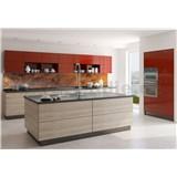 Samolepiace tapety za kuchynskú linku medený kovový plát rozmer 350 cm x 60 cm