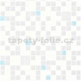 Umývateľné vinylové tapety na stenu Bravo 3D mozaika modro-strieborná