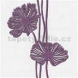 Tapety Lacantara 3 - veľké kvety fialové