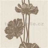 Tapety Lacantara 3 - veľké kvety hnedé