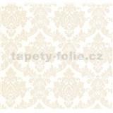 Luxusné vliesové tapety na stenu LACANTARA zámocký vzor svetlo zlatý na bielom podklade