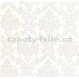 Luxusné vliesové tapety na stenu LACANTARA zámocký vzor strieborný na bielom podklade