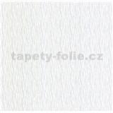 Luxusné vliesové tapety na stenu LACANTARA vlnovky strieborné na bielom podklade