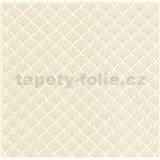Luxusné vliesové tapety na stenu LACANTARA ornamenty zlaté na bielom podklade