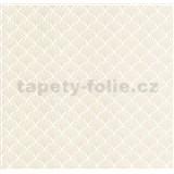 Luxusné vliesové tapety na stenu LACANTARA ornamenty strieborné na bielom podklade