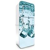 Samolepiace tapety na chladničku kocky ľadu rozmer 180 cm x 65 cm