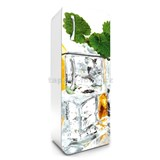 Samolepiace tapety na chladničku kocky ľadu s matou rozmer 180 cm x 65 cm