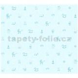 Detské vliesové tapety na stenu Little Stars detské hračky modré