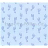 Detské vliesové tapety na stenu Little Stars detské stopy modré
