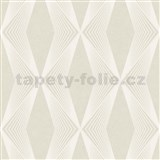Vliesové tapety na stenu LIVIO geometrický vzor svetlo hnedý