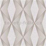 Vliesové tapety na stenu LIVIO geometrický vzor hnedý