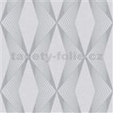 Vliesové tapety na stenu LIVIO geometrický vzor sivý na sivom podklade POSLEDNÉ KUSY
