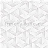 Vliesové tapety na stenu LIVIO ihlany strieborno-biele s ligotom