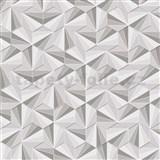 Vliesové tapety na stenu LIVIO ihlany sivo-strieborne