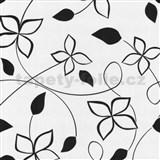 Tapety na stenu Lofty - kvety štylizované čierne - ZĽAVA