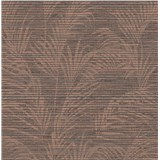 Luxusné vliesové tapety na stenu Madison florálny vzor hnedý s meděnými odleskami