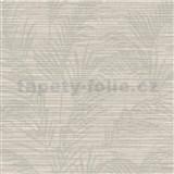 Luxusné vliesové tapety na stenu Madison florálny vzor svetlo hnedý s metalickými odleskami