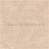 Luxusné vliesové tapety na stenu Madison florálny vzor hnedý s metalickými odleskami