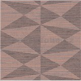Luxusné vliesové  tapety na stenu Madison kubistický vzor hnedý s medenými odleskami