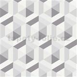 Vliesové tapety na stenu IMPOL Marbella 3D hexagon sivý