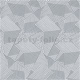 Moderné tapety na stenu IMPOL Novella hrany tmavo sivé