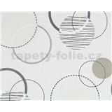 Vliesové tapety Suprofil - Rings - hnedo-strieborné