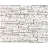 Vliesové tapety Suprofil - kamenný obklad - hnedý odtieň