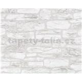 Vliesové tapety Suprofil - kamenná stena - sivý odtieň