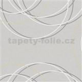 Tapety na stenu Zuhause Wohnen - kruhy bielo-šedé