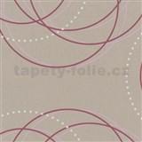 Tapety na stenu Zuhause Wohnen - kruhy fialovo-ružové