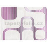Tapety WohnSinn Cubes ružovo-fialové