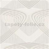 Vliesové tapety na stenu At Home - geometrický vzor krémovo-béžový