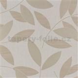 Vliesové tapety na stenu Di Moda listy svetlo-hnedé