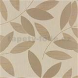 Vliesové tapety na stenu Di Moda listy hnedé