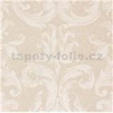 Vliesové tapety na stenu Zuhause Wohnen3 - damašek biely na ružovom podklade