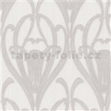 Vliesové tapety IMPOL Mata Hari Art-Deco krémovo-sivé