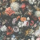 Vliesové tapety IMPOL Mata Hari kvetinová stena na sivom podklade